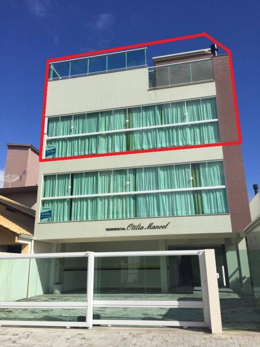 Cobertura - Código 406 para Temporada  no bairro Palmas na cidade de Governador Celso Ramos